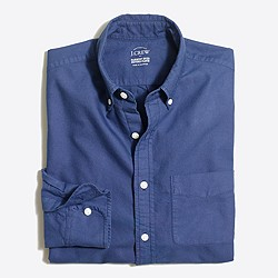 Slim sunwashed garment-dyed oxford shirt