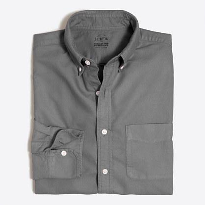 Slim sunwashed garment-dyed oxford shirt