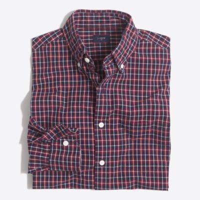 Plaid washed shirt