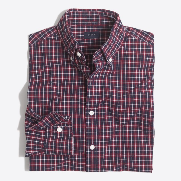 Plaid washed shirt