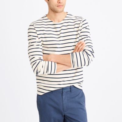 Long-sleeve nautical-striped crewneck T-shirt factorymen t-shirts & henleys c