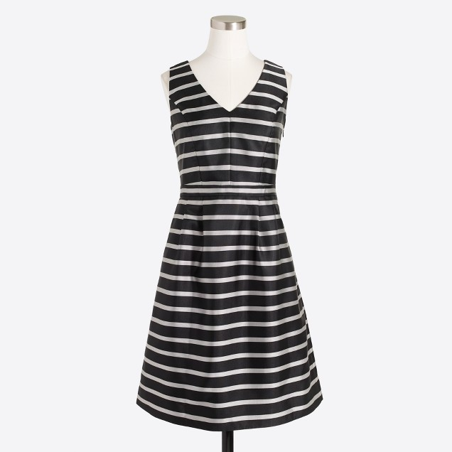 Striped jacquard dress
