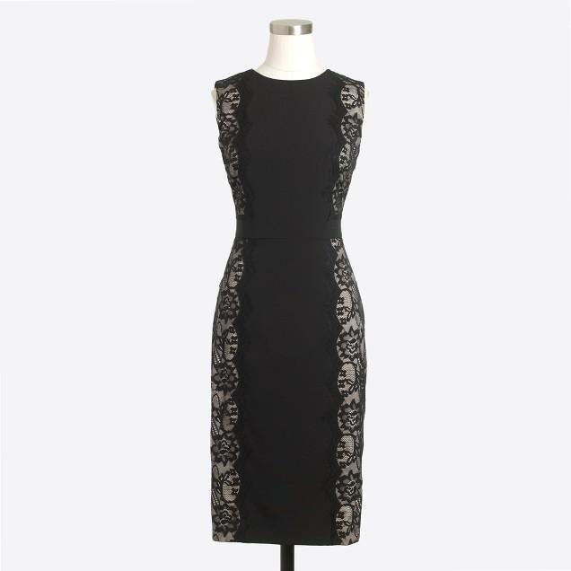 Lace-panel dress