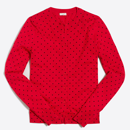 Polka-dot Caryn cardigan sweater