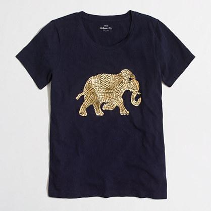 Metallic elephant collector T-shirt