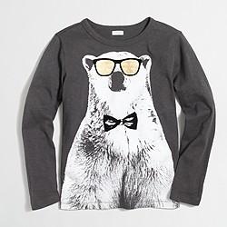 Boys' long-sleeve polar bear storybook T-shirt
