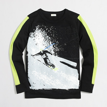 Boys' long-sleeve snowboarder storybook T-shirt