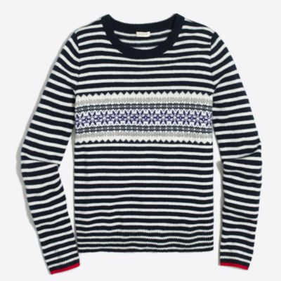 Striped Fair Isle sweater : FactoryWomen Pullovers | Factory