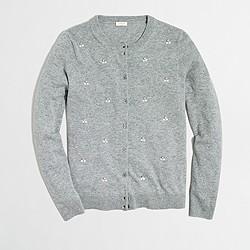 Embellished Caryn cardigan sweater
