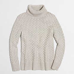 XO cable turtleneck sweater