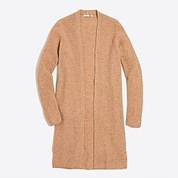 Ribbed car coat sweater