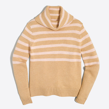 Striped turtleneck sweater