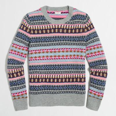 Fair Isle crewneck sweater : FactoryWomen Pullovers | Factory