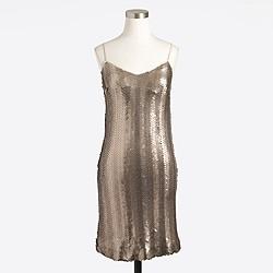 Sequin herringbone slip dress