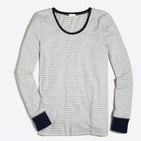 Tipped striped sleep T-shirt