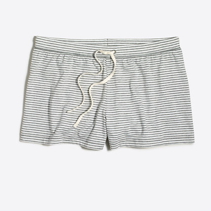 Striped pajama short