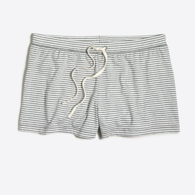 Striped pajama short