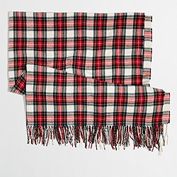 Plaid wrap scarf