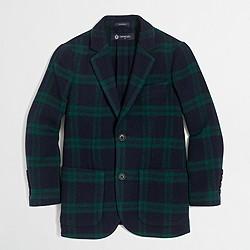 Boys' tartan unconstructed blazer