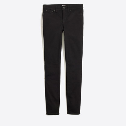 "Black skinny jean with 28"" inseam"