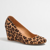 Sylvia calf hair wedges