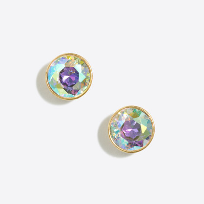 Iridescent dot earrings