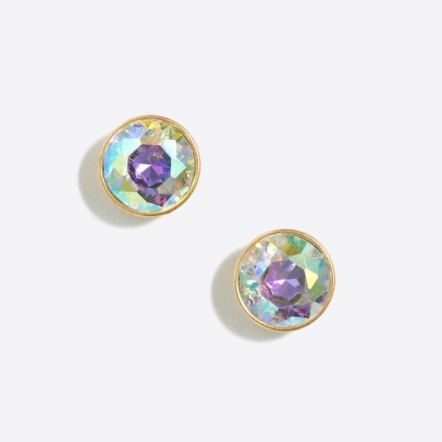 Iridescent dot earrings