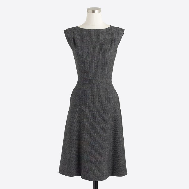 Glen plaid cap-sleeve dress