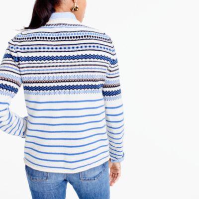 Lightweight Wool Fair Isle Striped Sweater : Women's Sweaters | J.Crew
