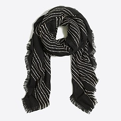 Dot stripe scarf