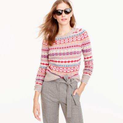 Holly Sweater In Fair Isle : Women's Sweaters | J.Crew
