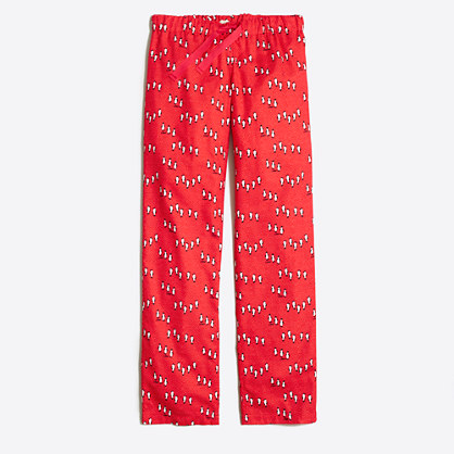 Printed flannel pajama pant