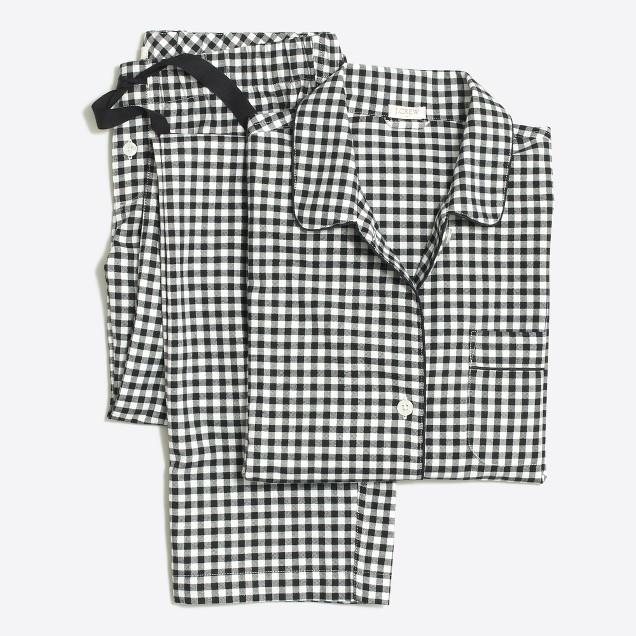 Yarn-dyed flannel pajama set