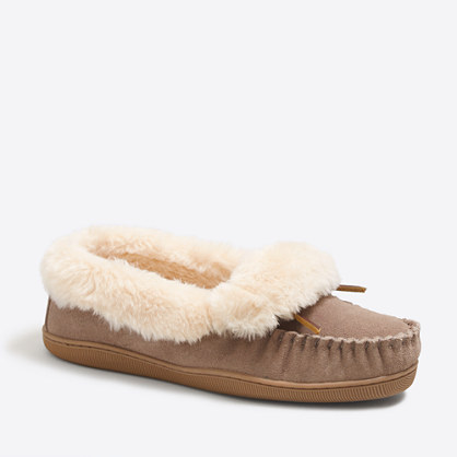 Shearling foldover fireside slippers slippers j crew for J crew bedroom slippers