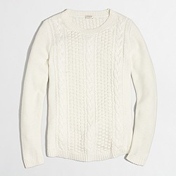 Popcorn cable sweater