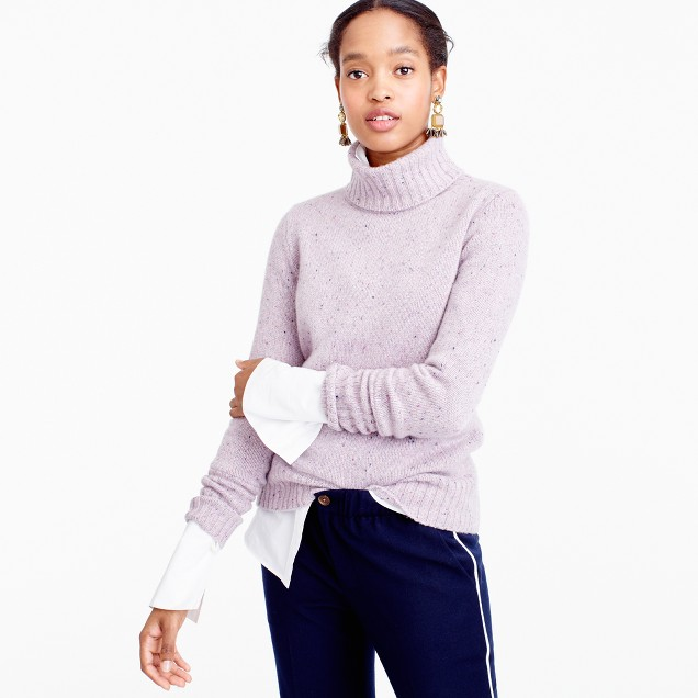Ribbed Turtleneck In Italian Cashmere Donegal : Women's Cashmere ...