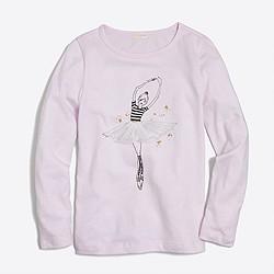 Girls' long-sleeve dancing girl keepsake T-shirt