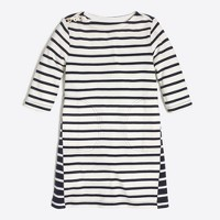 Girls' mixed-stripe shift dress