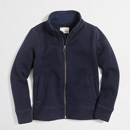 Boys' sweater fleece jacket