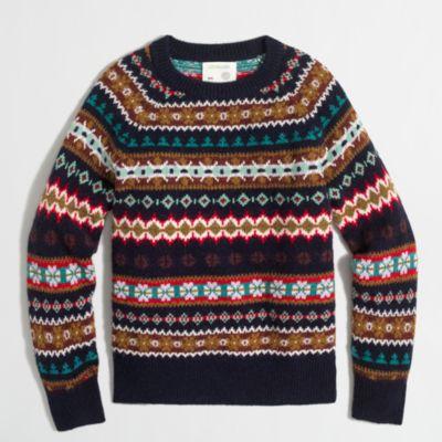 Boys' Fair Isle crewneck sweater : | Factory