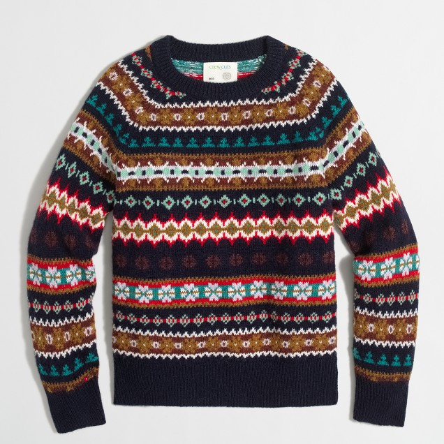 Boys' Fair Isle crewneck sweater