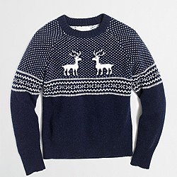 Boys' reindeer Fair Isle sweater