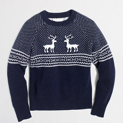 Boys' reindeer Fair Isle sweater