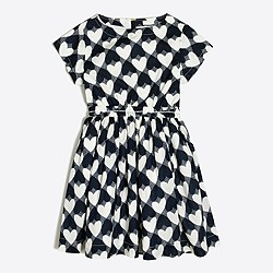 Printed hearts pocket dress