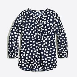 Girls' printed voile tunic