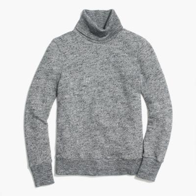Relaxed heather turtleneck sweatshirt factorywomen online exclusives c