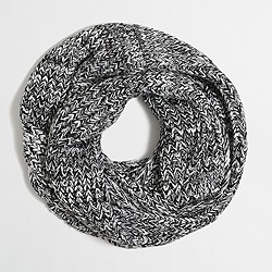 Marled chunky knit infinity scarf