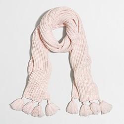 Marled tassel scarf