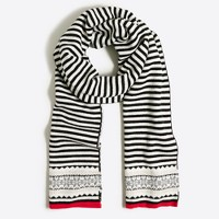 Striped Fair Isle scarf