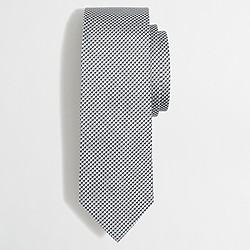 Silk jacquard houndstooth tie